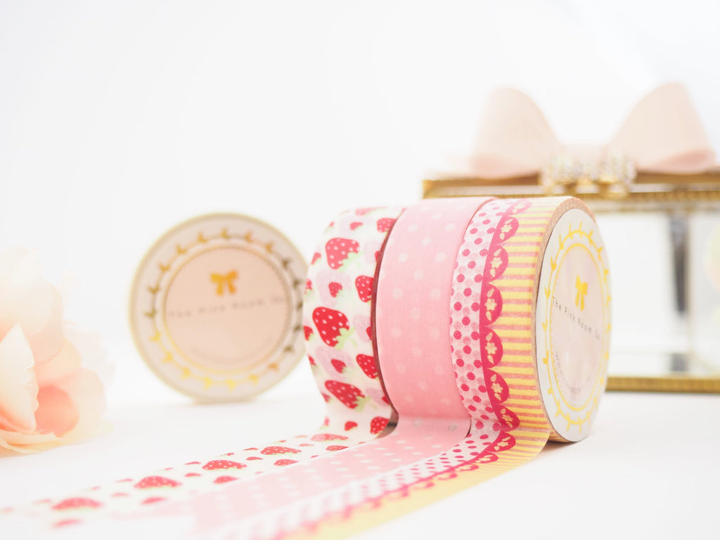STRAWBERRY SHORTCAKE  Washi Tape Collection  -  from ThePinkRoomCo