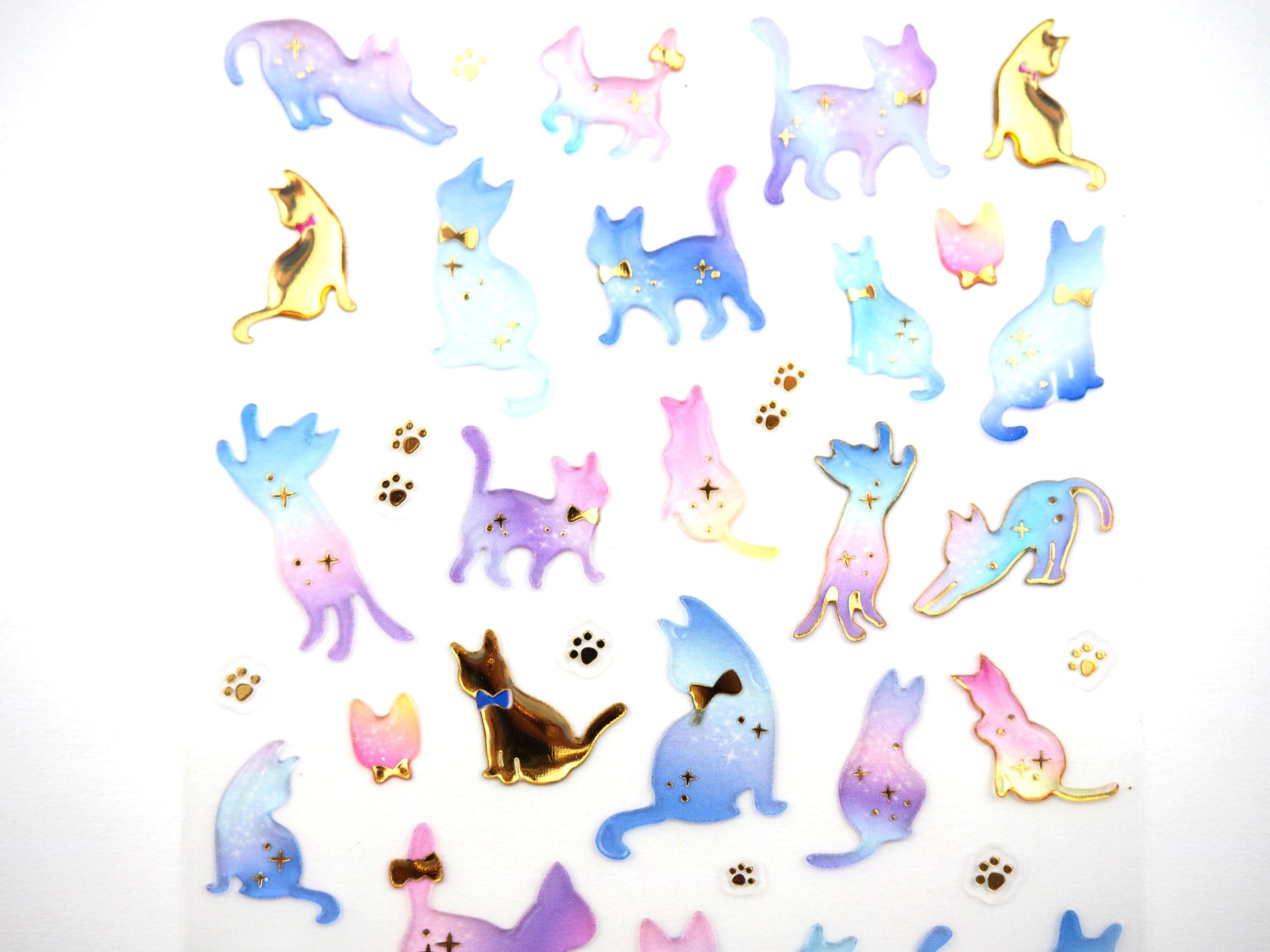 Fancy Cats Sticker Collection  -  from ThePinkRoomCo