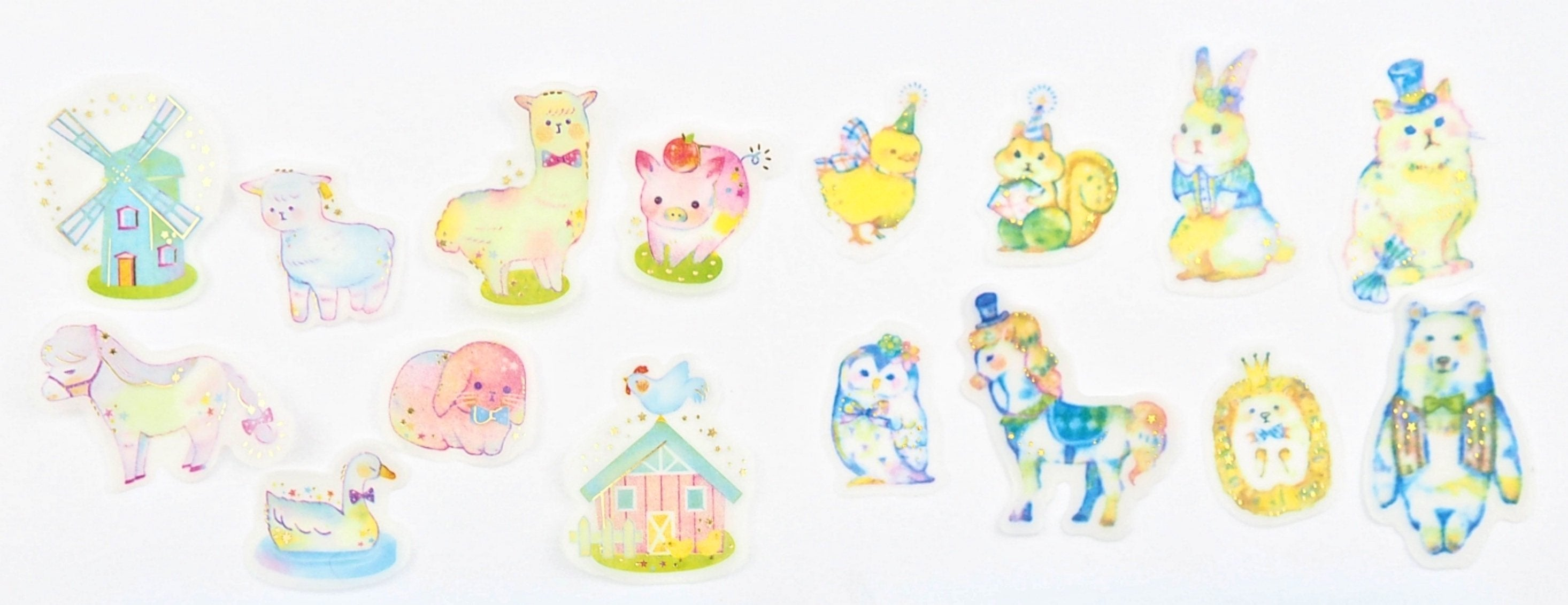 Party Animals sticker collection  -  from ThePinkRoomCo