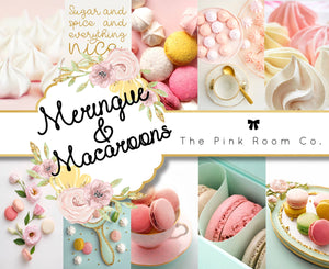 Meringue & Macaroons - Foiled weekly kit from the April Mystery kit collection