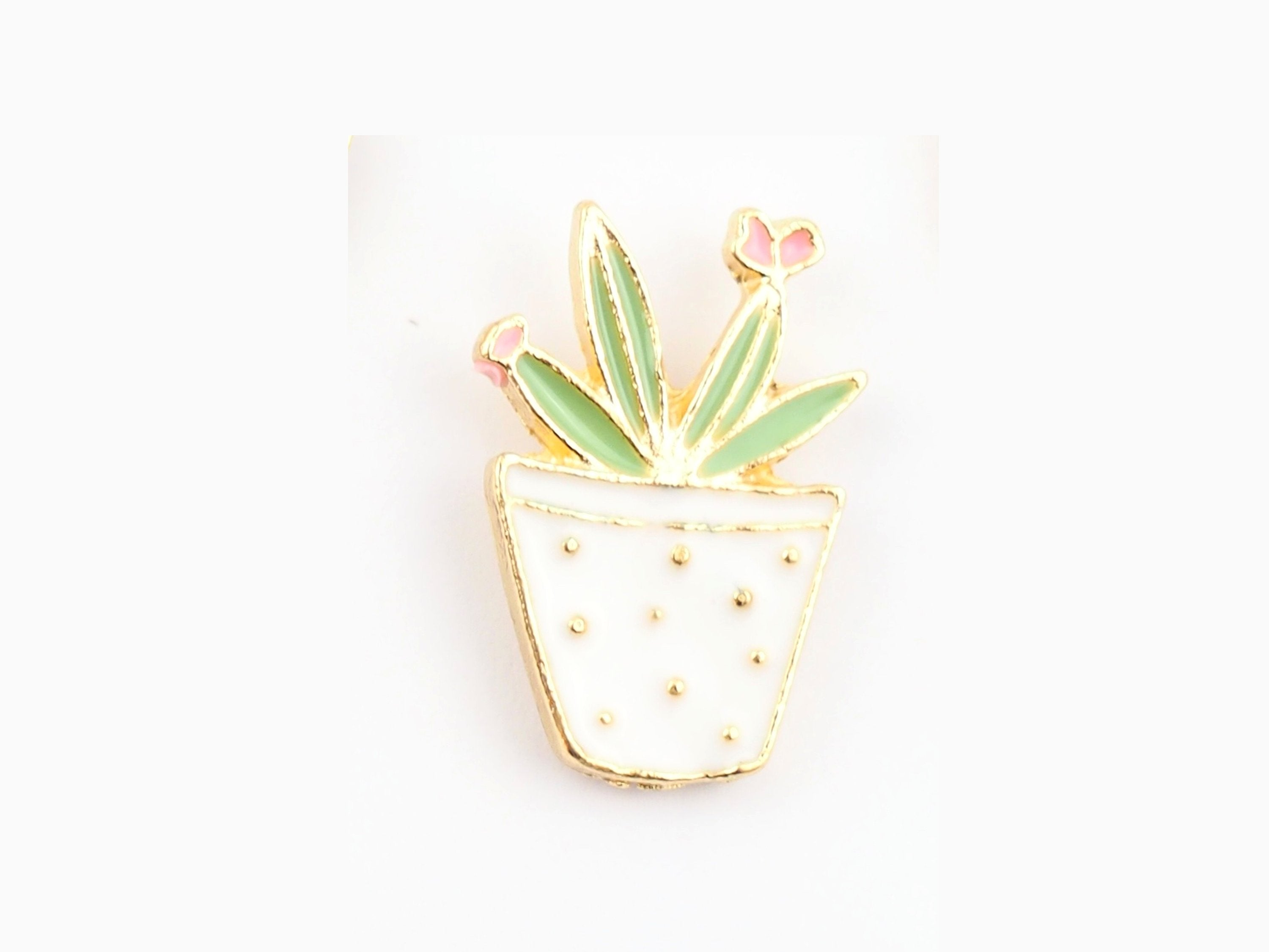 Potted Plant Enamel Pin