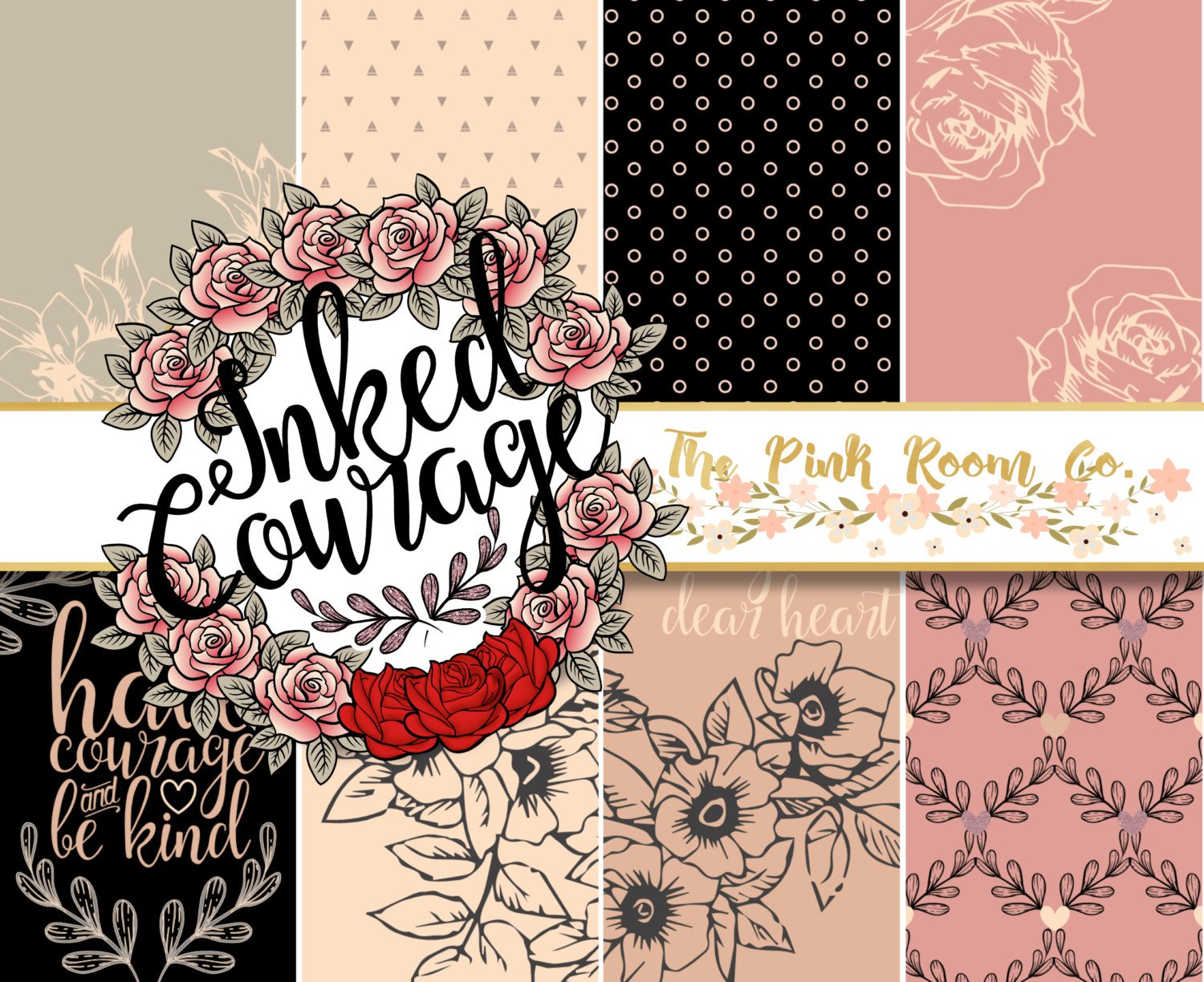 INKED COURAGE - Weekly Planner Sticker Kit
