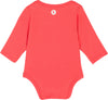 upf baby clothing long sleeve onesie coral