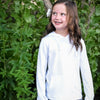 Kid's Long Sleeve Hoodie Sweatshirt - White
