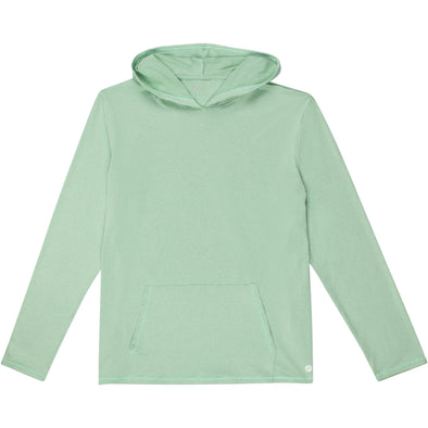 Adult Unisex Long Sleeve Hoodie Sweatshirt - Light Green