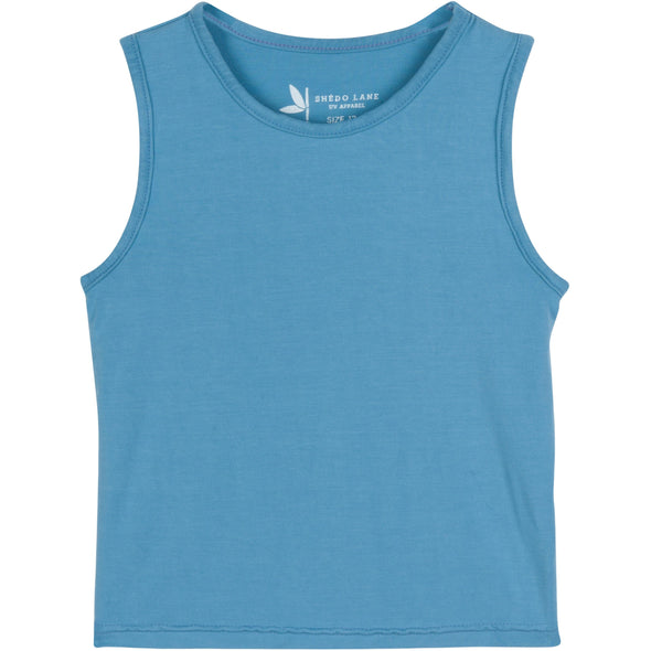 girl sun protection tank top blue