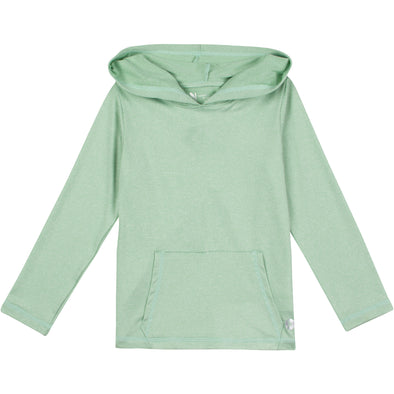 Kid's Long Sleeve Hoodie Sweatshirt - Light Green