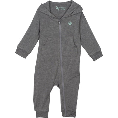 baby sunsuit romper gray shedo lane