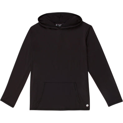 Men's Long Sleeve Hoodie Sweatshirt - Black