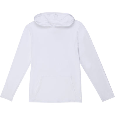 Men's Long Sleeve Hoodie Sweatshirt - White