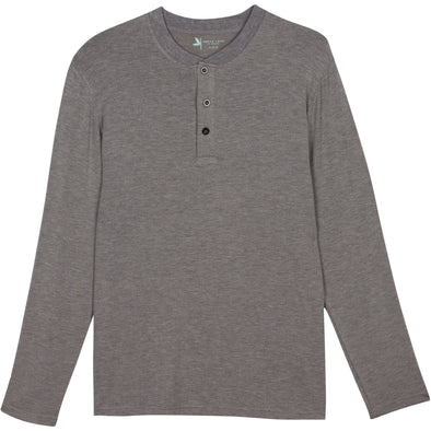mens sun protection shirts long sleeve henley gray