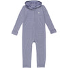 Baby & Toddler Long Sleeve Hooded Romper - Light Navy