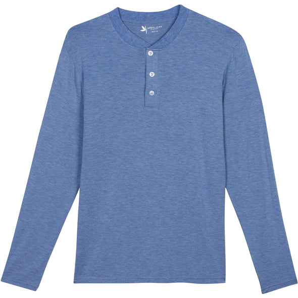 Mens Long Sleeve Henley Shirts UPF 50+ Sun Protection