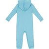 Baby & Toddler Long Sleeve Hooded Romper - Aqua Blue