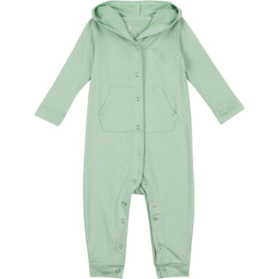 Baby & Toddler Long Sleeve Hooded Romper - Light Green