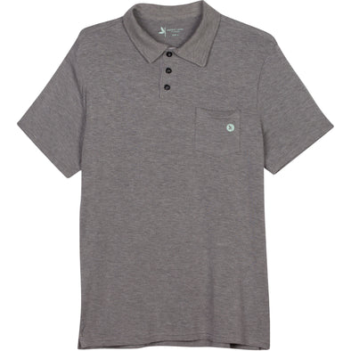 Mens Sun Protection Shirts Polo Golf Shirt UPF 50+ Gray Shedo