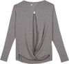 gray sun protection shirts womens shedo open back
