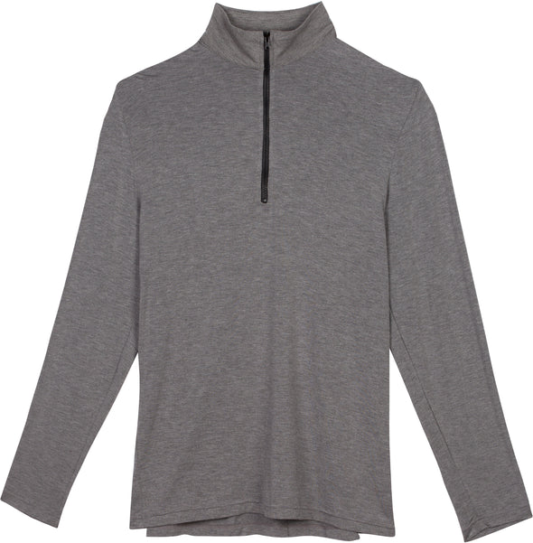 sun protection shirts mens quarter zip long sleeve gray