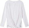 white open back shirt for women