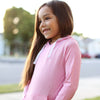 Kid's Long Sleeve Hoodie Sweatshirt - Rose Pink
