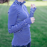 Women's Long Sleeve Half Zip Fitted Shirt-Women's Shirt-Shēdo Lane