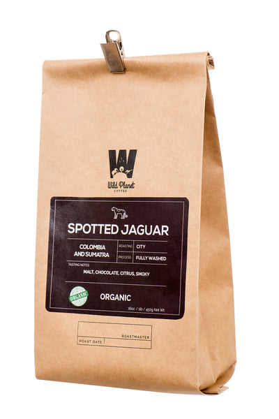 Spotted Jaguar Organic Colombia and Sumatra  Blend (12 oz)