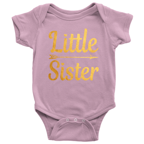 40c61993 Newborn Baby Shower Coming home Little Sister gold Baby Girl onesies  Bodysuit outfit shirts - Gifts