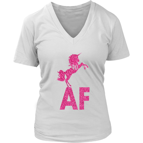bcf64f20 Funny Women's 40th Birthday 40 AF unicorn pink 40 years old T-shirts  collection -