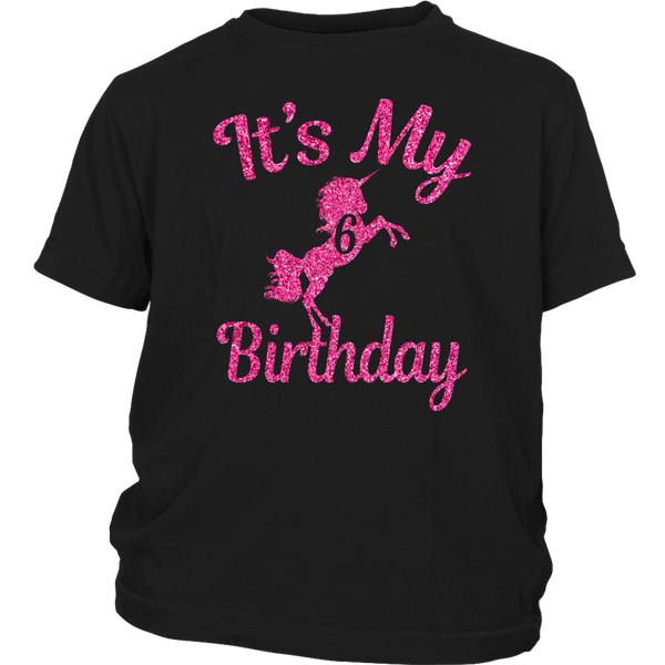 313a60ec2 Magical It's My 6th Birthday girl Pink Unicorn 6 T-shirts – Unicorns Field