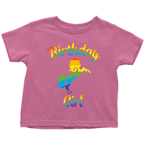 Teelaunch T Shirt Toddler Pink 2T Unicorn 2nd Birthday Girl