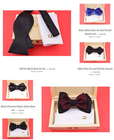 Wedding and Groom Bow tie collection