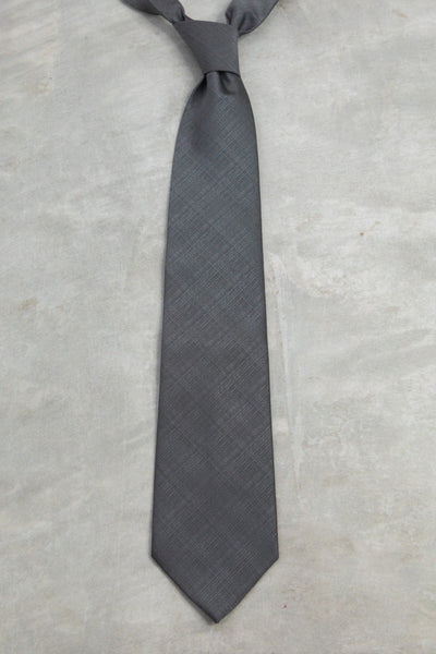 Classic Charcoal Silver Tie