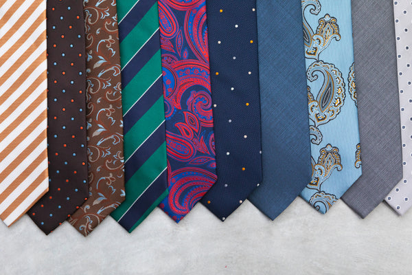 a selection of ties including Classic Charcoal Silver Tie