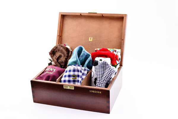 Box of Pocket Squares or Bow ties Box - Men's Finest