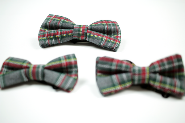 Family Scottish Tartan Bow Tie Set
