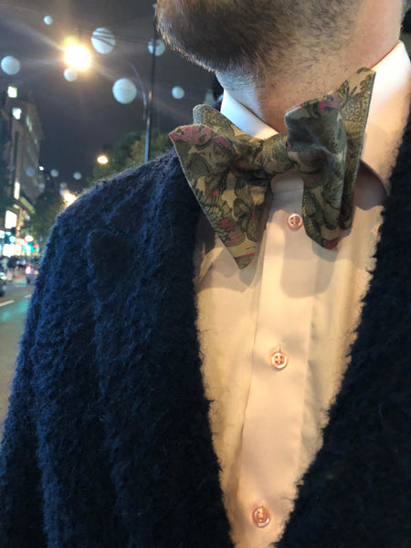 Mother Nature Grayish Yellow Bow Tie