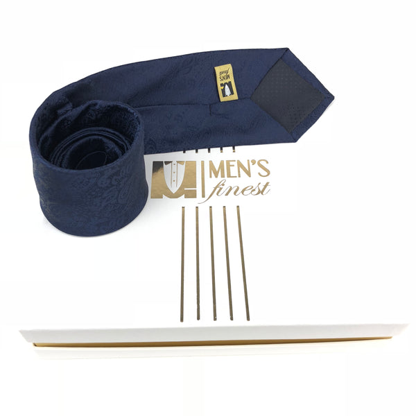 Dark Saturated Navy Italian Tie