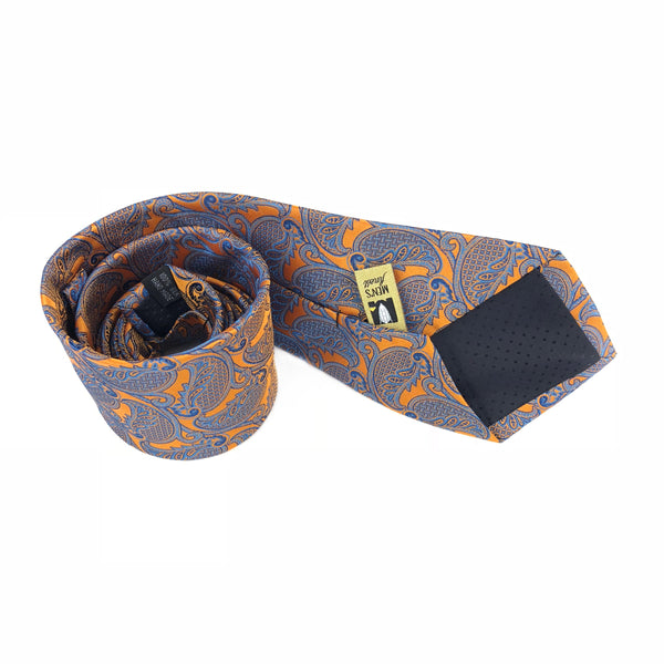 Burnt Orange Gold Dust Tie