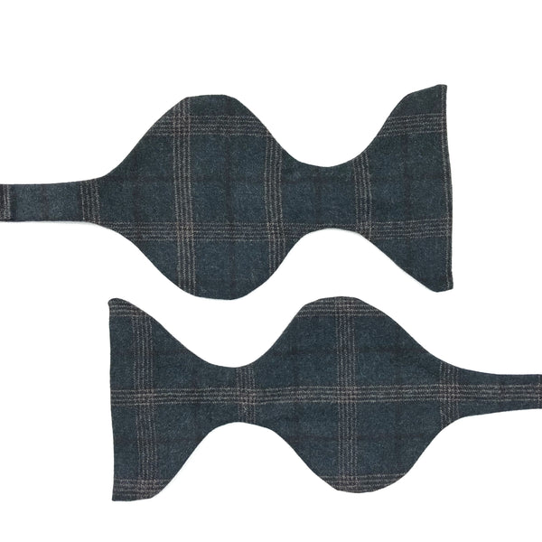 Reda 1865 Italian Wool Check Bow Tie