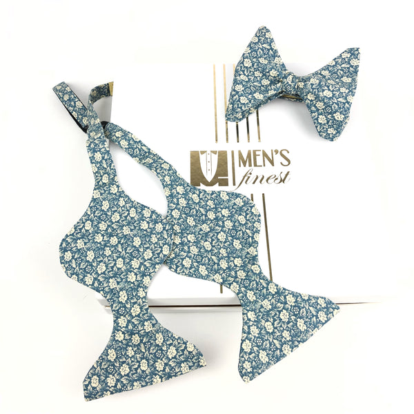 Light Blue Butterfly Bow Tie