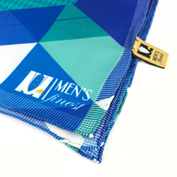 Best Silk Pocket Square - 40cm x 40cm - Blue