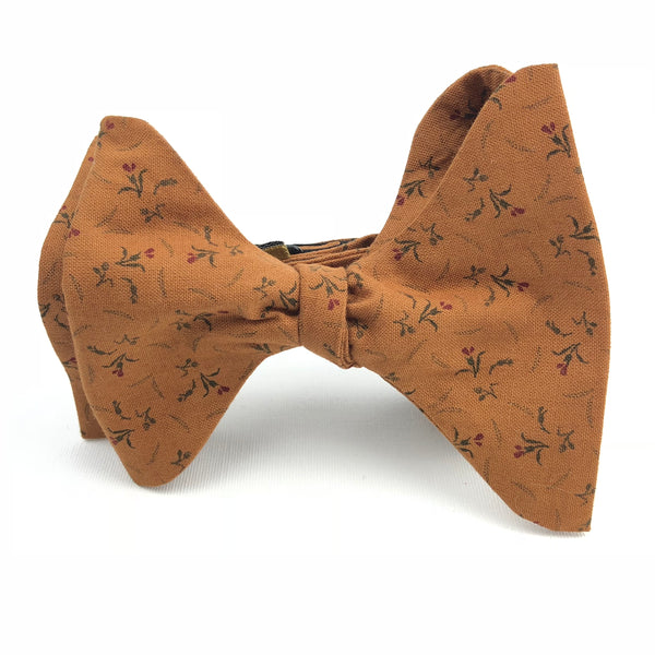 Ginger Carnation Butterfly Bow Tie