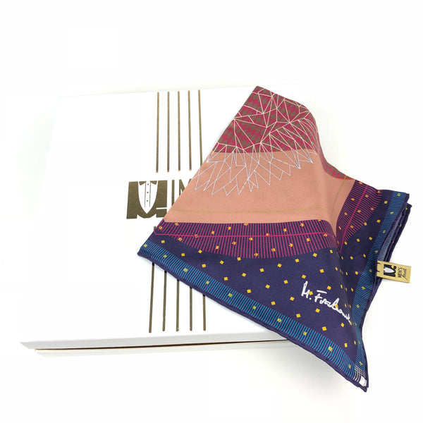 Pink Purple Big Satin Pocket Square
