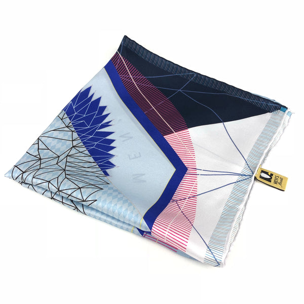 Blue Ocean Big Satin Silk Pocket Square