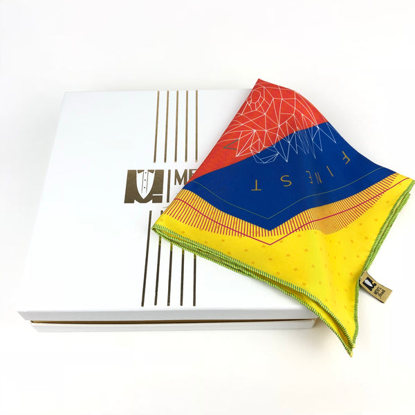 Best Silk Pocket Square - 40cm x 40cm - Yellow
