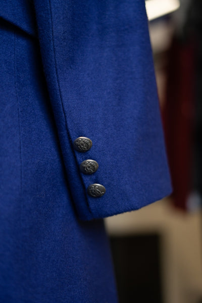 Cobalt Blue Double Breasted Coat