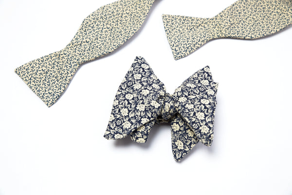 Dark Navy Butterfly Bow Tie