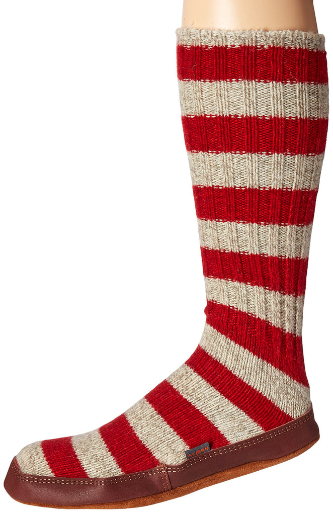 huge selection of 203f8 15071 Acorn The Original Slipper Sock Red Stripe Ragg Wool (RSR), U Small – Great  Lakes Outpost