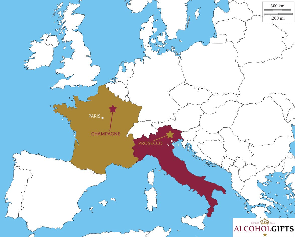 Where Champagne & Prosecco are from