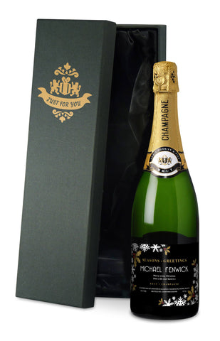 Personalised Luxury Snowflake Champagne